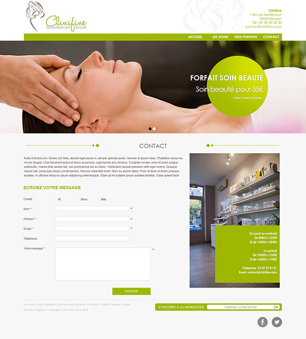 Clinifine Homepage